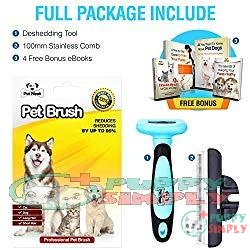 Pet Neat Grooming Brush: Shedding by Up to 95% 1