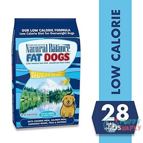 Natural Balance Fat Dogs Chicken   Salmon Formula Low-Calorie Dry Food