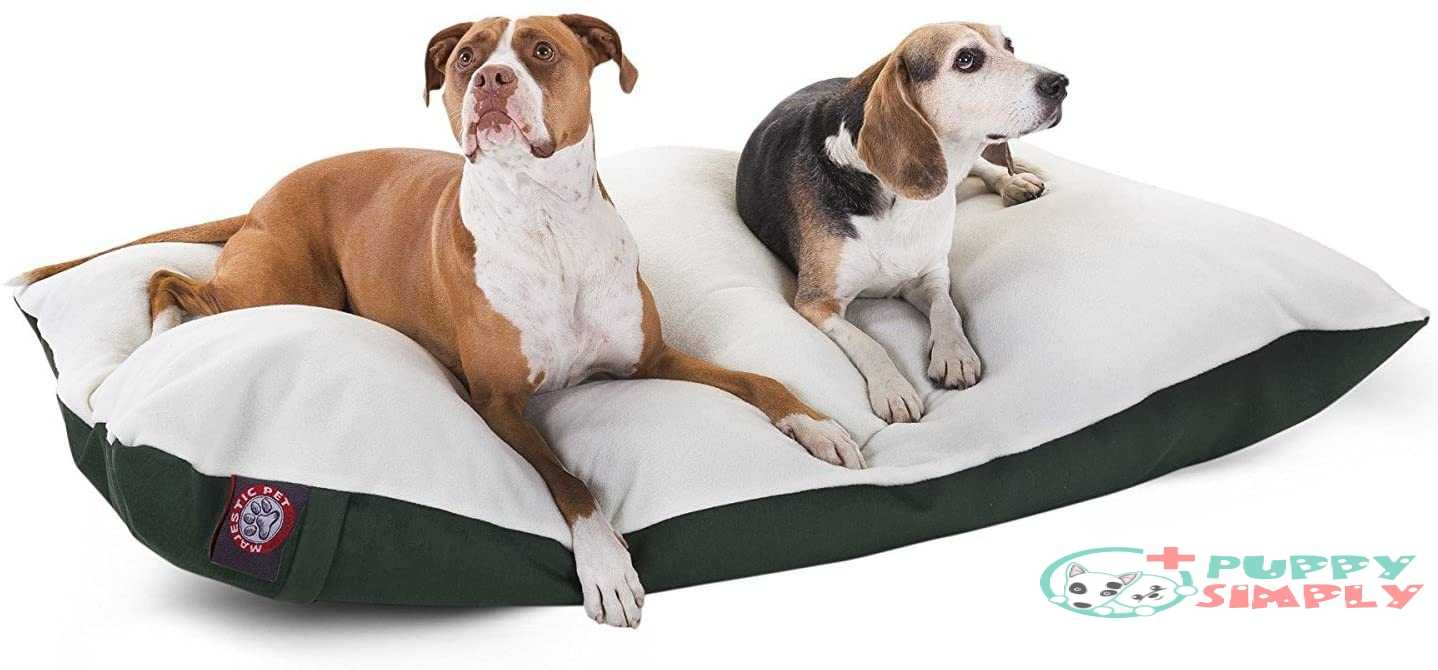 Poly Cotton Sherpa Pillow Pet Dog Bed By Majestic Pet