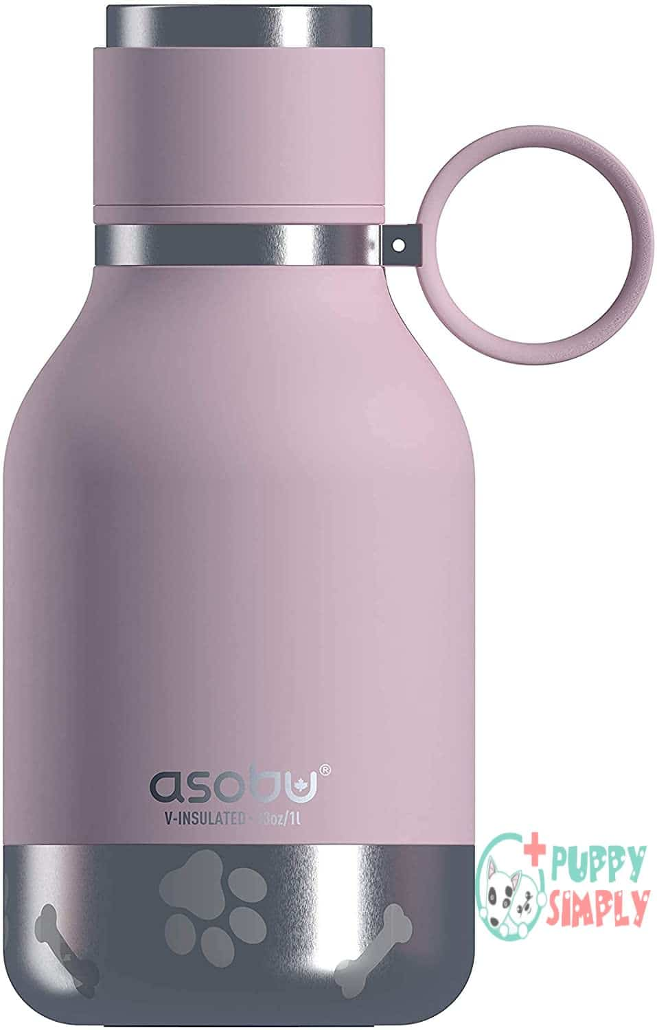 Asobu Dog Bowl Attached to Stainless Steel Insulated Travel Pet Bottle